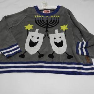 Ugly Hanukkah Sweater Tipsy Elves Dreidel Menorah